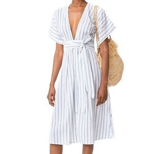 Faithfull The Brand Mustang Midi Dress Striped